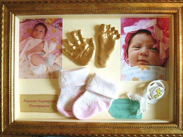 Подарок новорожденной девочке отпечаток 75